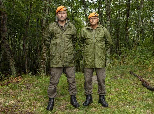 KAPTEIN OG OBERST: Kristian Ødegård og Dag Otto Lauritzen har med «Kompani Lauritzen» skapt en seerfavoritt. Foto: Matti Bernitz / TV 2