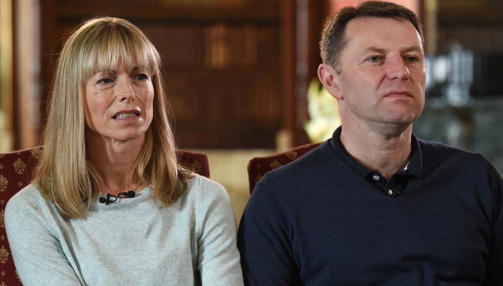 HÅPER: Foreldrene til Madeleine McCann, Katy og Gerry McCann, har fortsatt et håp om at datteren deres er i live. Her fra et intervju i 2017. Foto: Pa Photos