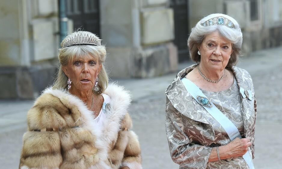 KONGENS SØSTRE: Svenske kong Carl Gustaf har fire søstre, men det er trolig prinsesse Birgitta (til venstre) som har skapt mest blest de senere årene. Nå forteller hun i et intervju med Expressen at hun har reist til Tyskland, etter å ha vært isolert med det svenske kongeparet i nær to måneder. Foto: NTB Scanpix