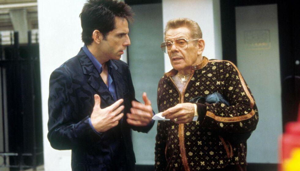 FAR OG SØNN: Ben og Jerry Stiller avbildet sammen i forbindelse med innspillingen av «Zoolander». Foto: Moviestore/ REX/ NTB scanpix