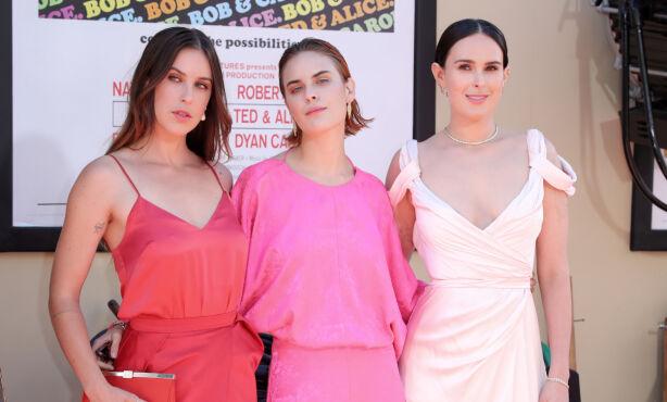 SØSTRENE SISTERS: Demi Moore har de tre døtrene Scout, Tallulah og Rumer sammen med eksmannen Bruce Willis. Foto: NTB Scanpix