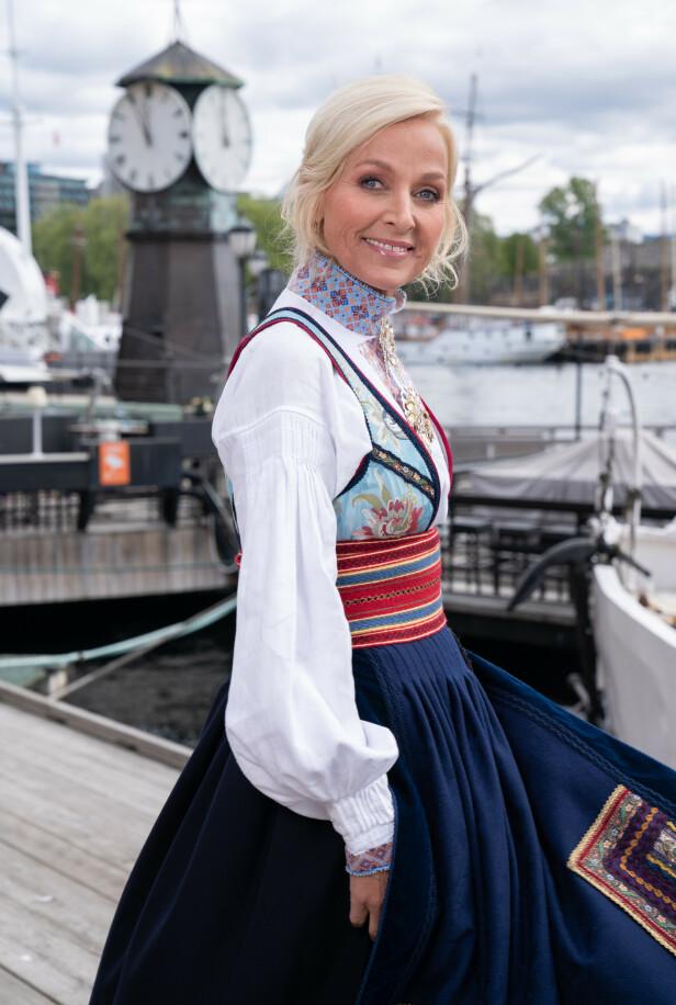 BELTESTAKK: Vår Staude har fått flere tilbud om å selge beltestakken sin. Denne har hun i stor grad designet selv. Foto: Espen Solli / TV 2