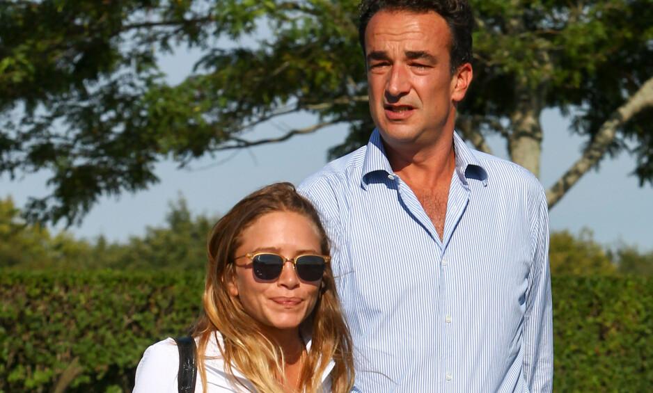 NEW YORK: Mary-Kate Olsen og ektemannen Olivier Sarkozy avbildet på Hampton Classic Horse Show i 2015. Nå skal hun ønske å skille seg. Foto: INFPhoto.com / NTB Scanpix