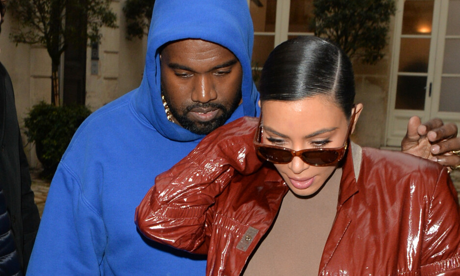TRØBBEL? Kim Kardashian og Kanye West har vært sammen i åtte år, men nå kan det virke som at livet under coronapandemien har satt sitt preg på forholdet. Foto: NTB Scanpix