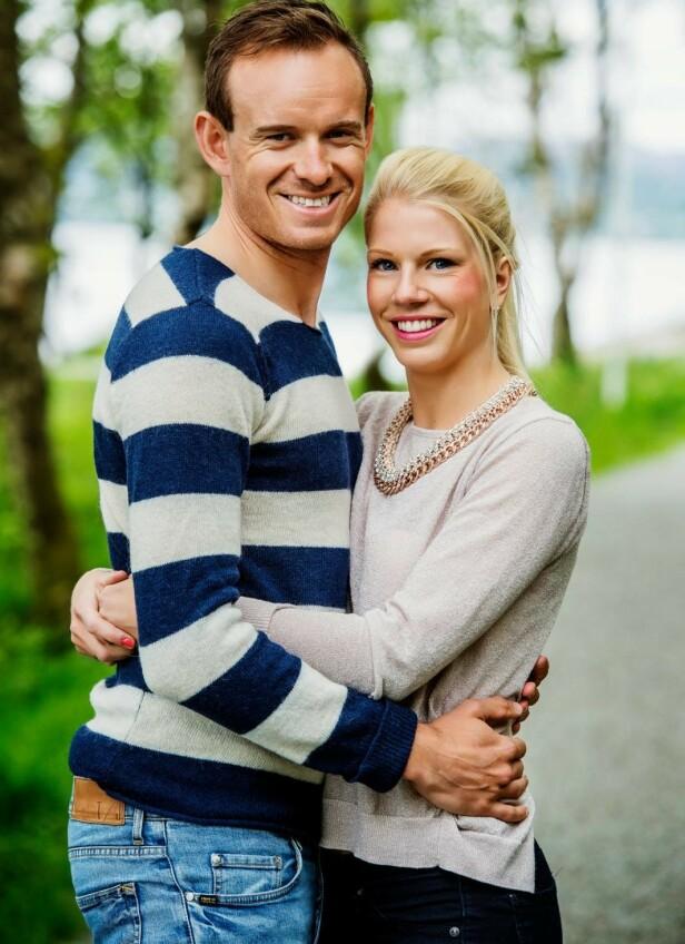 MØTTES PÅ VIDEREGÅENDE: Proffsyklisten og kona Maren har vært et par siden de møttes på videregående. Her avbildet i 2017. Foto: Anders Martinsen
