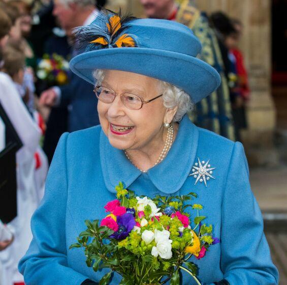 OVER TO MÅNEDER SIDEN: Dronning Elizabeth på vei ut fra Westminster Abbey etter Commonwealth Day Service 9. mars i år. Foto: NTB scanpix