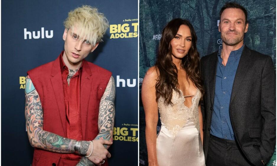 - DATER: Rapperen og skuespilleren Richard Colson Baker, kjent som Machine Gun Kelly, skal være Megan Fox' nye flamme. Foto: NTB Scanpix