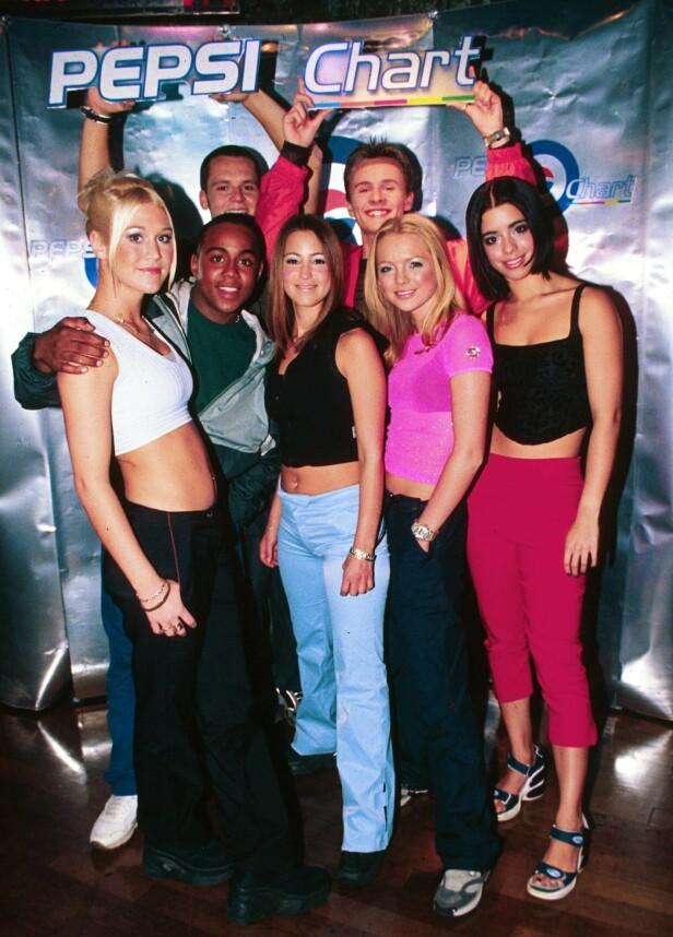 1999: S Club 7 erobret hitlister verden over med låter som «Don't Stop Movin'» og «S Club Party». Foto: NTB Scanpix