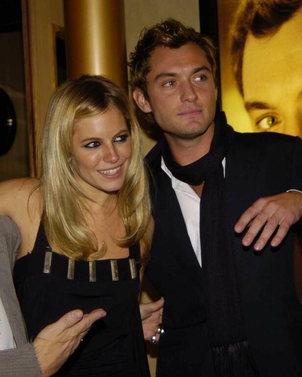 BRØT FORLOVELSEN: Etter at det ble kjent at Jude Law hadde vært utro mot Sienna Miller valgte hun å bryte forlovelsen med skuespilleren. Her avbildet i 2004. Foto: NTB Scanpix