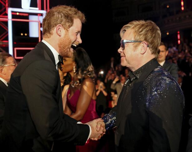 GOD STEMNING: Prins Harry og Elton John skal være gode venner. Foto: NTB Scanpix