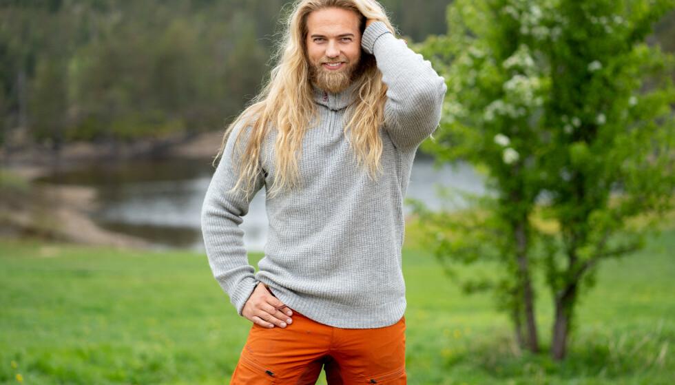 INSTAGRAM-STJERNE: Lasse Matberg har fått internasjonal oppmerksomhet for viking-looken. Foto: Espen Solli/TV 2