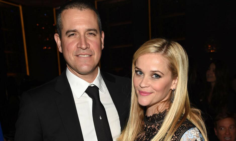 EKTEPAR: Jim Toth og Reese Witherspoon har vært gift siden 2011. Foto: NTB Scanpix