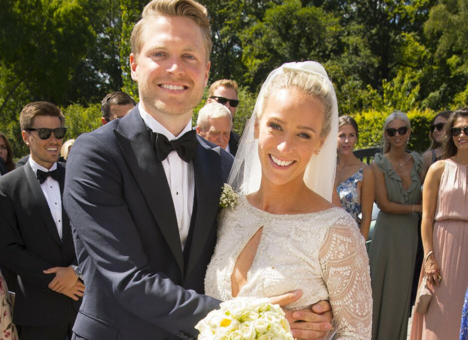 RØPER KJØNNET: Sommeren 2018 giftet Katarina Flatland og Harald Meling Dobloug seg i Danmark. Denne sommeren venter de barn og er blitt huseiere. Foto: Espen Solli/ Se og Hør