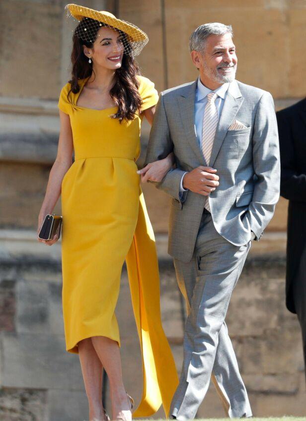 ÆRESGJESTER: George Clooney og kona Amal Clooney var selvskrevne gjester i prins Harrys bryllup. Foto: NTB scanpix