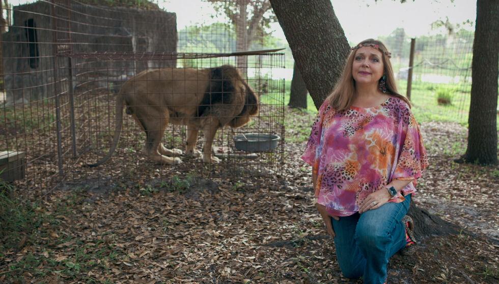 VANT: Carole Baskin kan snart ta full kontroll over G.W. Zoo. Foto: Netflix