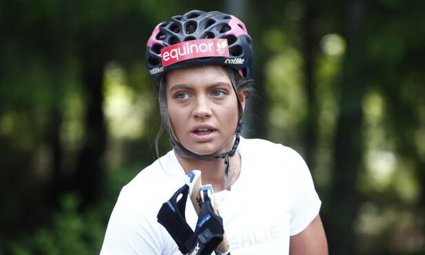 PÅ PLASS: Kristine Stavås Skistad og flere andre landslagsløpere for kvinner deltar på treningssamling i Sørkedalen. Foto: Terje Pedersen / NTB scanpix