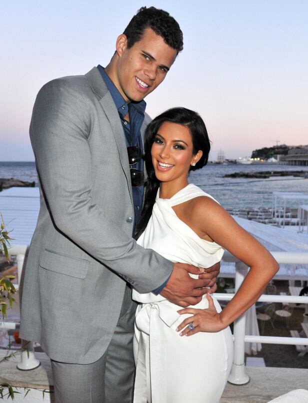 SKILT: Etter 72 dager som rette ektefolk gikk Kim Kardashian og Kris Humphries hver sin vei. Her avbildet i 2011. Foto: NTB Scanpix