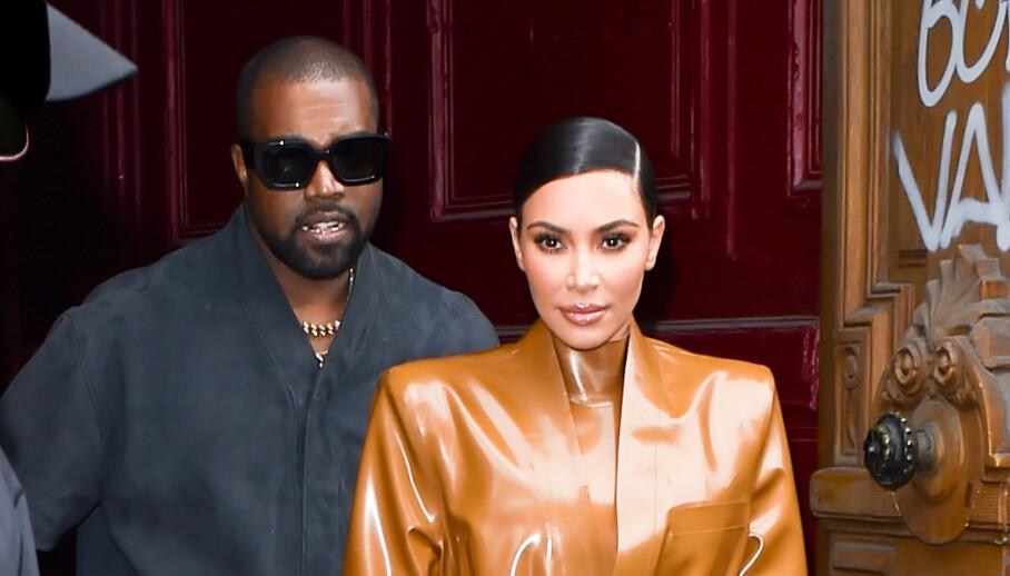 SNAKKER UT: Kim Kardashian åpner seg for første gang om ektemannens uttalelser, og forteller om hans mentale helse. Foto: NTB Scanpix