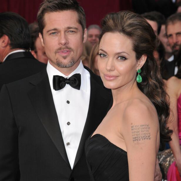 <strong>MØTTES PÅ SETTET:</strong> Etter å ha spilt inn film sammen oppstod det søt musikk mellom Brad og Angelina. De har også gått hver til sitt. Foto: NTB Scanpix