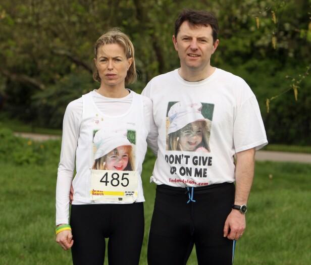MENER DET ER EN DRAPSSAK: Her er Madeleine McCanns foreldre avbildet i 2011. Foto: NTB Scanpix