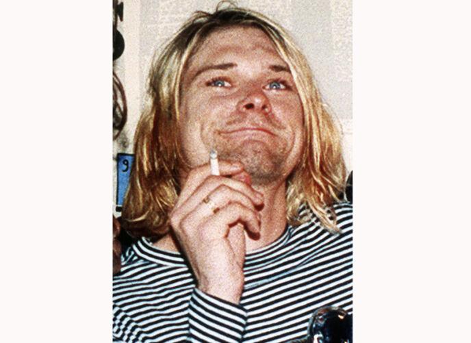 STOR STJERNE: Dette bildet av Kurt Cobain ble tatt i 1993. Året etter ble han funnet død. Foto: AP/ NTB