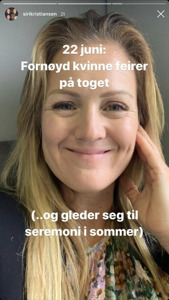 <strong>SEREMONI:</strong> Det ordentlige bryllupet vil finne sted i sommer, ifølge Kristiansen. Foto: Skjermdump Instagram
