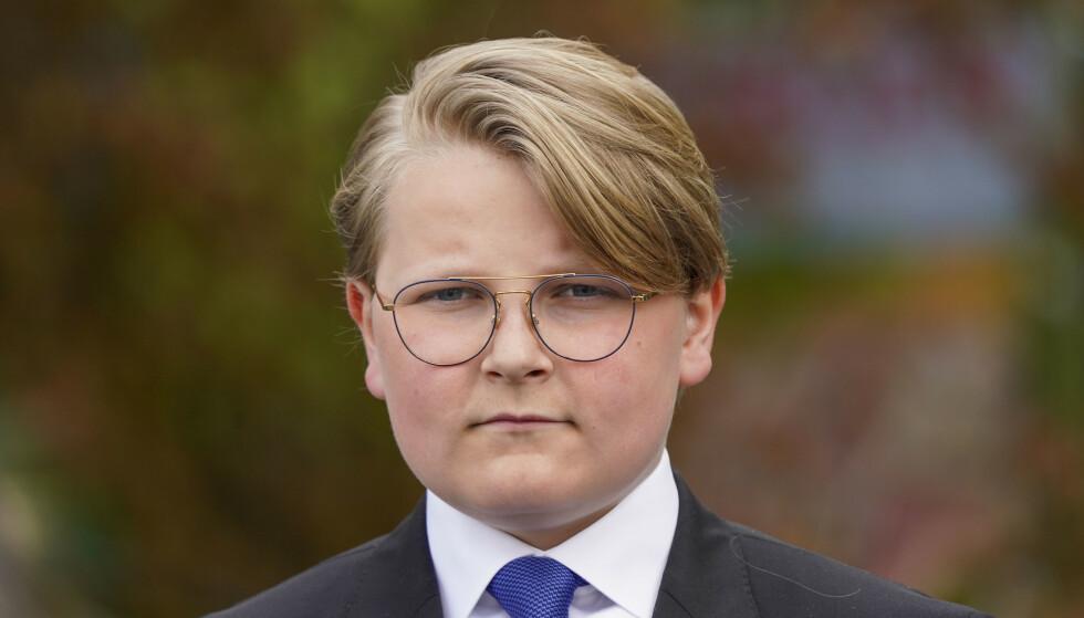 14 ÅR: Flere reagerer på at prins Sverre Magnus brukes i bildeteksten til Sophie Elise, i det flere mener er en seksualisert setting. Foto: Lise Åserud/NTB scanpix