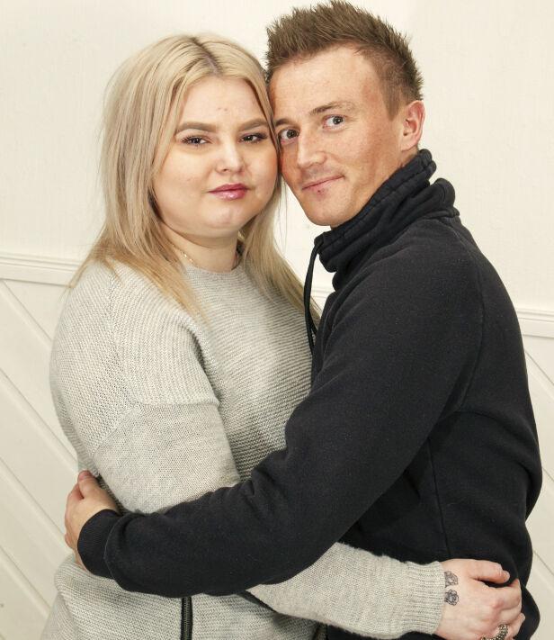 GOD STØTTE: Sarah sammen med samboeren Sten Magne. Paret har innsett at de foreløpig må legge drømmen om et felles barn på is.