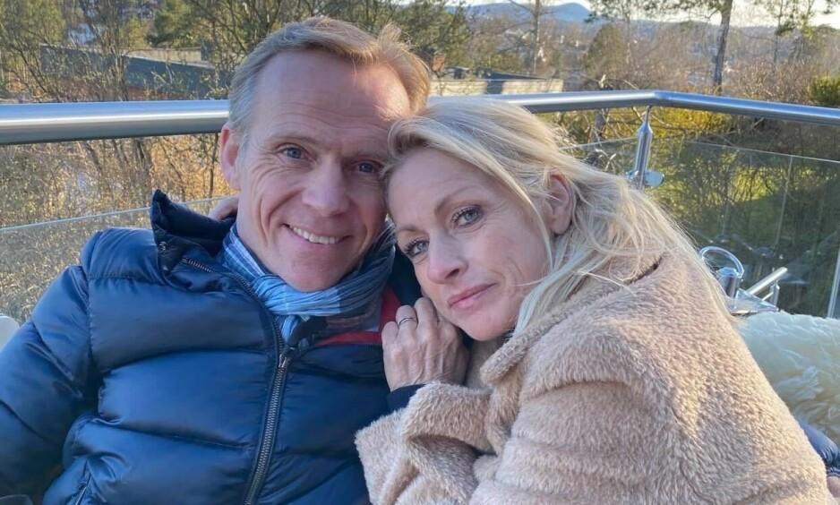 FORELSKET: Merete Lingjærde legger ikke skjul på at hun er svært forelsket i sin nye kjæreste Anders Mørk. Her er de to avbildet sammen. Foto: Privat