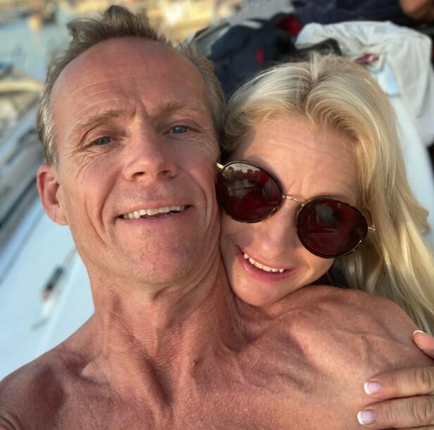 SAMME INTERESSE: Lingjærde forklarer overfor Dagbladet at både hun og kjæresten elsker havet. Foto: Privat