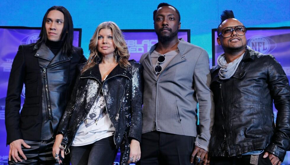 FORKLARER HVORFOR: I et nytt intervju forteller de resterende medlemmene av The Black Eyed Peas hvorfor Fergie valgte å forlate gruppen. Her er de alle avbildet i 2011. Foto: NTB Scanpix