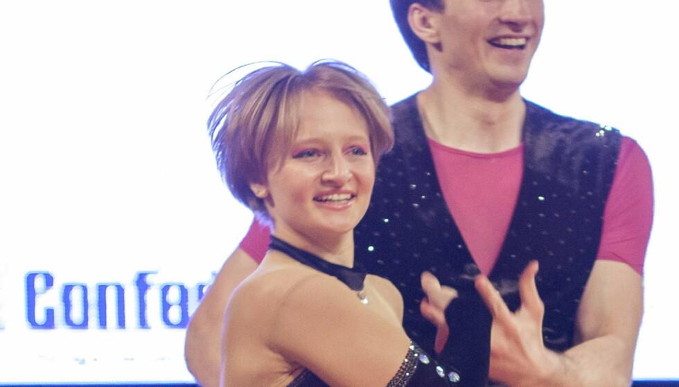 SKILT: Ifølge flere medier er Jekaterina Vladimirovna Tikhonova og Kirill Sjamalov skilt. Her er hun avbildet med en dansepartner. Foto: REUTERS/Jakub Dabrowski/File Photo