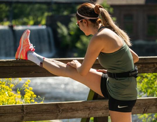 ANKELSTØTTE: Ankelstøtten gir optimal stabilitet, komfort og kompresjon.