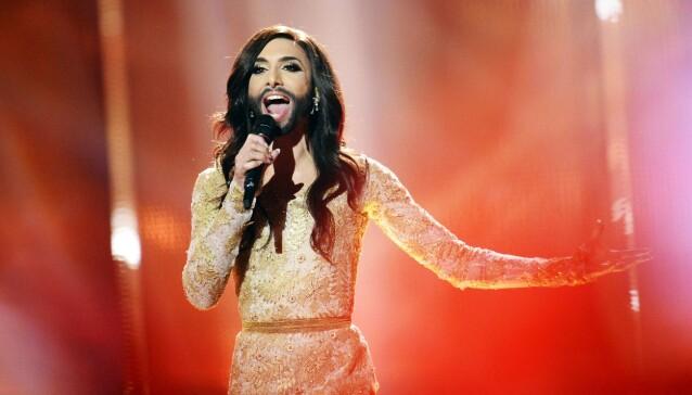 VINNER: I 2014 stakk Conchita Wurst av med den gjeve Eurovision-seieren, med låta «Rise Like a Phoenix». Foto: NTB Scanpix