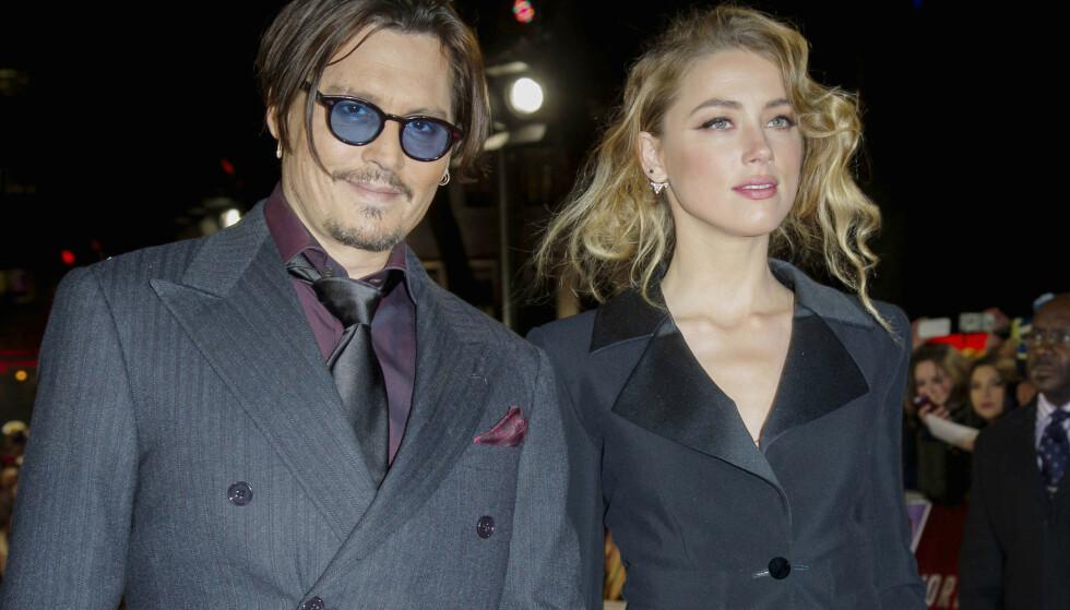 OPPSTYR: Eksparet Johnny Depp og Amber Heard har krangla så busta fyker de siste fire årene, og det ser ikke ut til at de gir seg med det første. Foto: NTB Scanpix