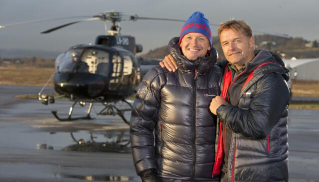 TV-PROFIL: Finn Christian «Finken» Jagge gjorde seg også bemerket i TV 2s realitykonkurranse «Dropped: Heltenes kamp», som ble ledet av Dag Otto Lauritzen (t.h.), i 2015. Foto: Morten Eik/ Se og Hør