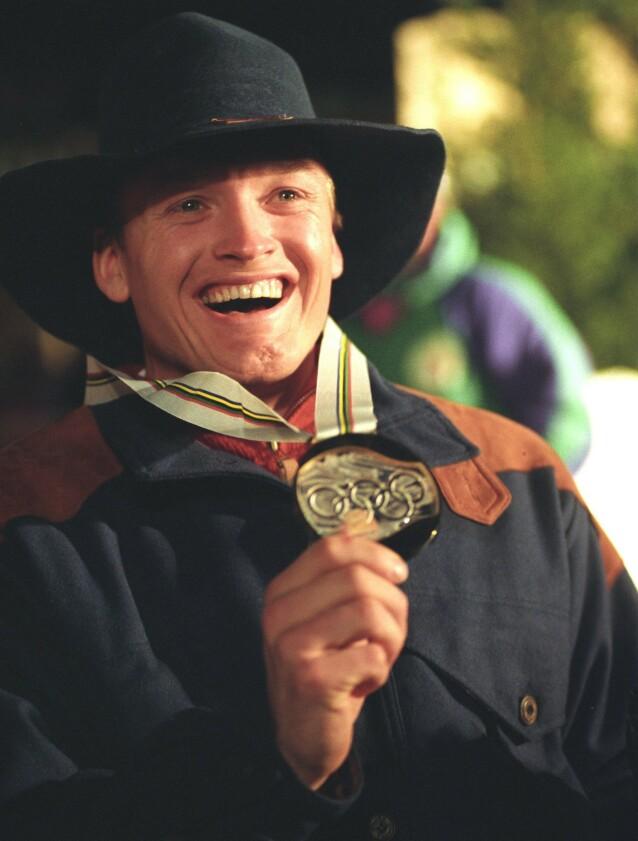 STOLT: OL-gullet i 1992 var utvilsomt et av karrierens store høydepunkt. Foto: NTB Scanpix