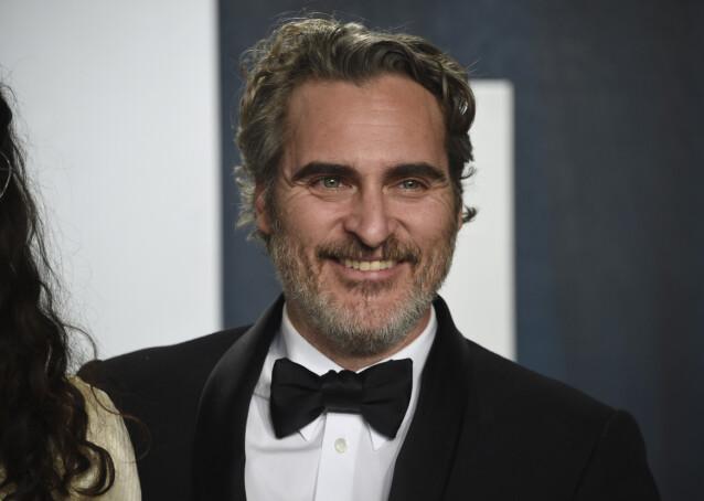 FLAU: Skuespiller Joaquin Phoenix har tidligere avslørt at han var flau over navnet sitt. Her avbildet i februar. Foto: NTB Scanpix