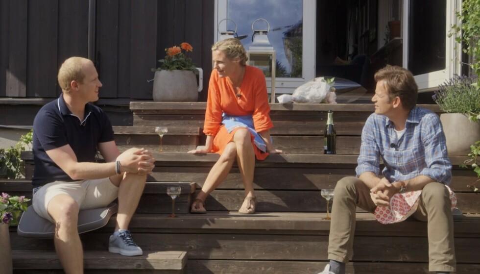 FOR MORO SKYLD: Erik Follestad brøt seg inn i en hytte sammen med kompisen Jon Almaas. Det forteller de i denne ukas episode av «En kveld hos Kloppen». Foto: Skjermdump TV 2