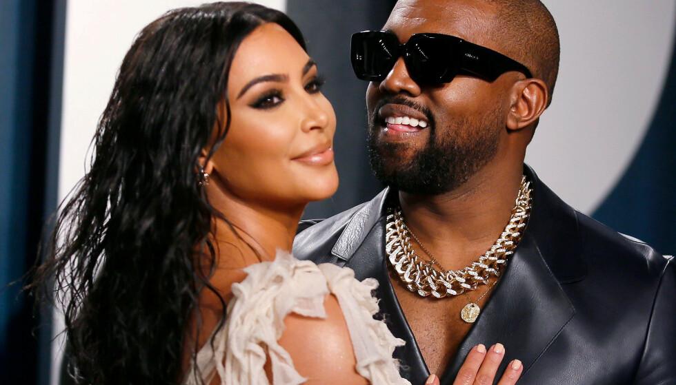 SPENNING PÅ HJEMMEBANE: Selv om Kim Kardashian offentlig støtter ektemannens presidentkandidatur, skal stemningen på hjemmebane være en helt annen. En kilde med tilknytning til familien hevder at kona er svært bekymret for Kanye West. Foto: NTB Scanpix