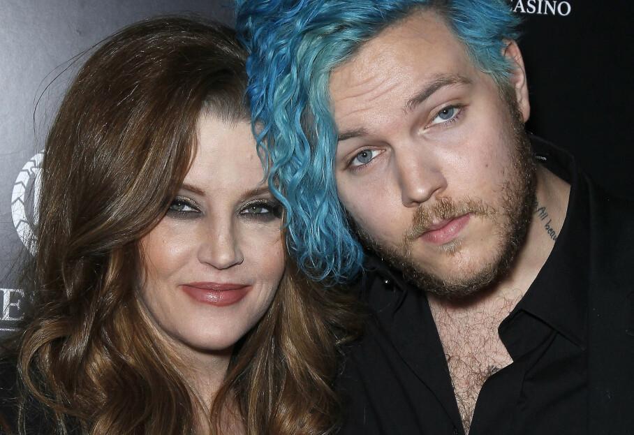 DØDE: Benjamin Presley Keough (27) er død. Her sammen med moren Lisa Marie Presley i 2012. Foto: Splash News/ NTB scanpix