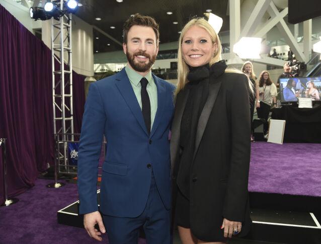 FILMSTJERNE: Chris Evans og motspiller Gwyneth Paltrow på «Avengers: Endgame»-premieren i Los Angeles i april 2019. Foto: Chris Pizzello/ AP/ NTB scanpix