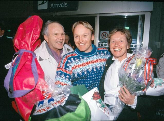 I SORG: Liv Jagge-Christiansen åpnet opp om sønnens død i denne ukens utgave av Se og Hør. Her er «Finken» sammen med moren og faren Finn Dag i 1992. Foto: NTB Scanpix