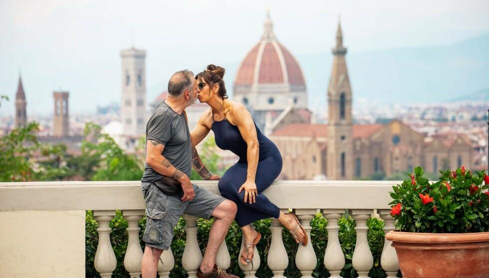 KLINTE TIL: Kjærligheten til Ragna betyr alt for Eirik Jensen. Her er paret i Firenze for to år siden.