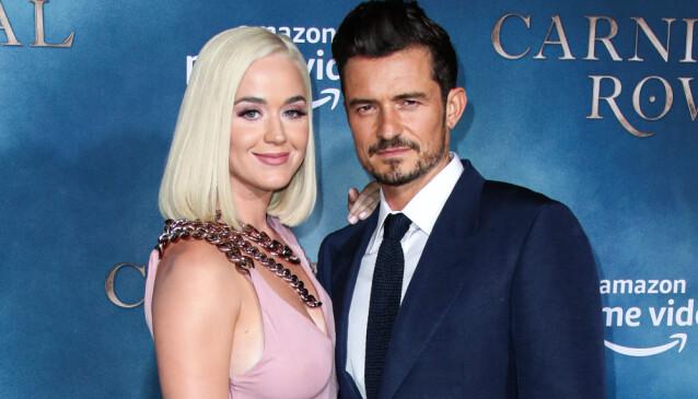 KOMMENDE FORELDRE: Katy Perry og skuespillerkjæresten Orlando Bloom venter en liten jente sammen om ikke lenge. Foto: NTB Scanpix