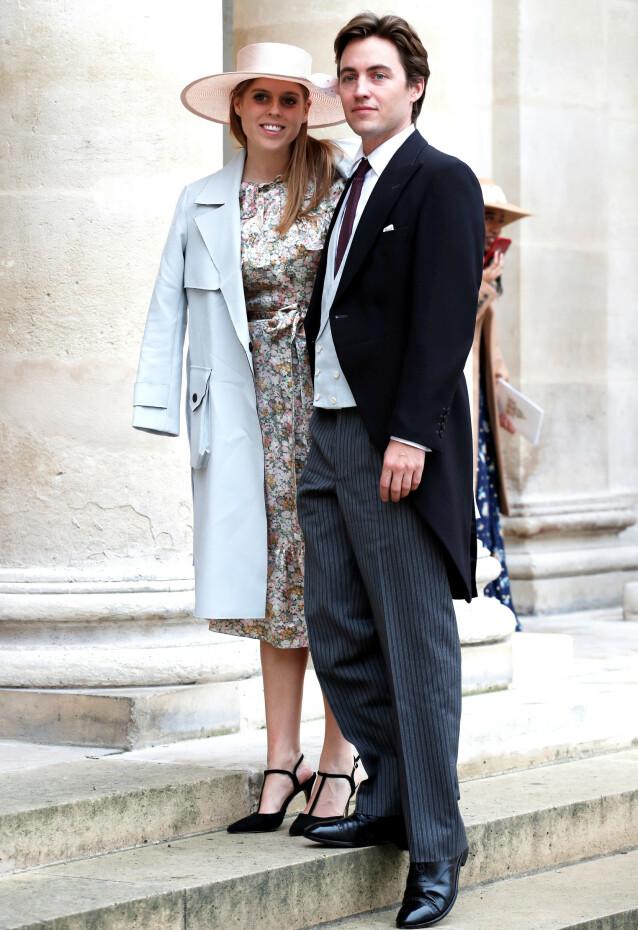 GIFTET SEG: Prinsesse Beatrice og Edoardo Mapelli Mozzi skal ha giftet seg i en hemmelig seremoni i Windsor fredag. Foto: NTB Scanpix