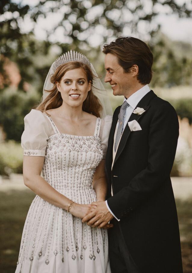 MANN OG KONE: Paret giftet seg fredag 17. juli - i en hemmelig og liten seremoni. Foto: NTB Scanpix