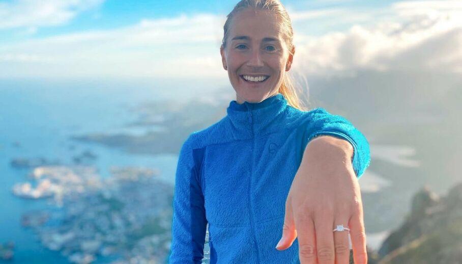 FORLOVET: Charlotte Jacobsen avslører at hun og kjæresten har forlovet seg. Foto: Privat, gjengitt med tillatelse