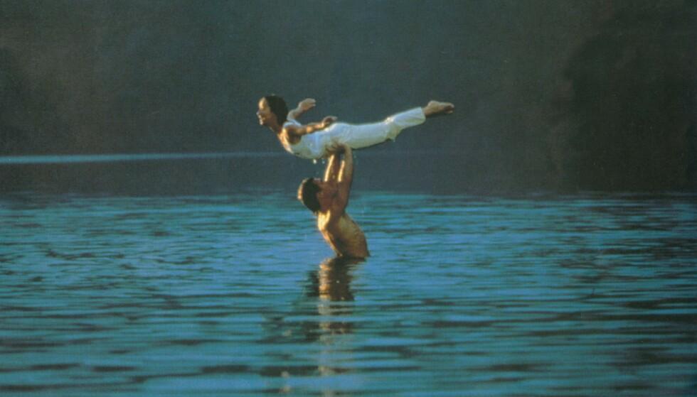 IKONISK: Jennifer Grey og Patrick Swayze ble kjent for et av de mest legendariske danseløftene i Hollywood. Foto: Moviestore/ REX/ NTB
