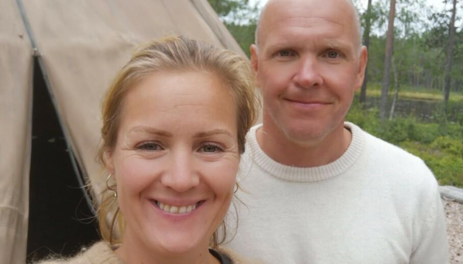 PAR I HJERTER: Tidligere i sommer giftet Siri Kristiansen og Espen Bjurstedt seg. I helgen hadde de en storslått bryllupsfeiring - med en rekke celebre navn på gjestelista. Foto: Privat
